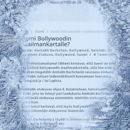 Suomi Bollywoodin maailmankartalle