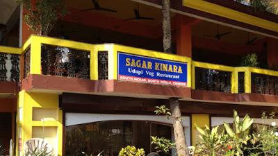 Ravintola Sagar Kinara, Colva, Goa, vuonna 2012