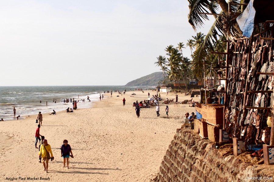 Anjuna Flea Market Beach