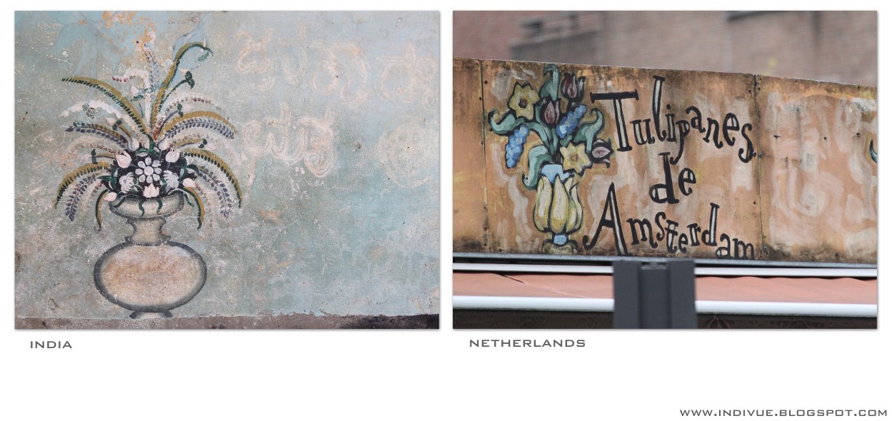 Seinämaalauksia Hollannista ja Intiasta