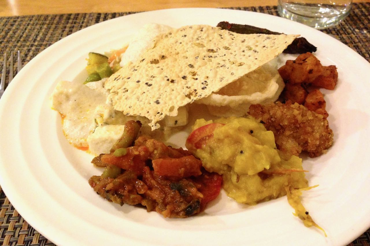South Indian buffet dinner