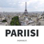 Kaupunkinäkymä Pariisista ja Eiffel-torni