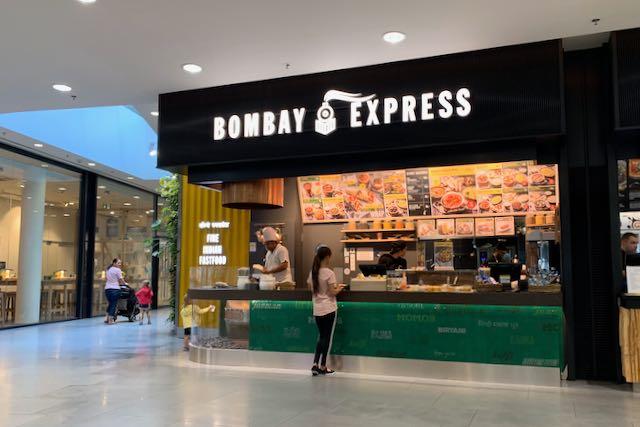 Bombay Express -pikaruokaravintola tsekkiläisessä ostoskeskuksessa
