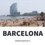 Barcelonan rantaa ja ihmisiä INDIVUEfi