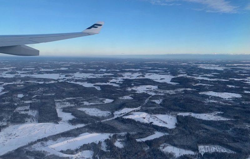 Finnairin lento Delhistä Helsinkiin