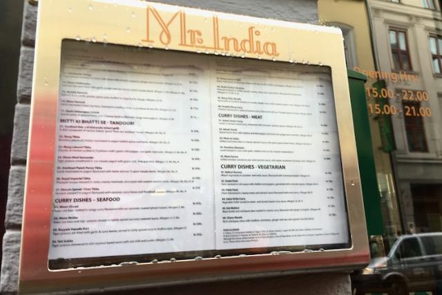 Intialainen ravintola Mr. India Oslo