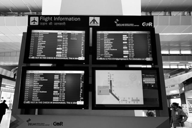 Lentoaikatauluja Delhin lentokentällä