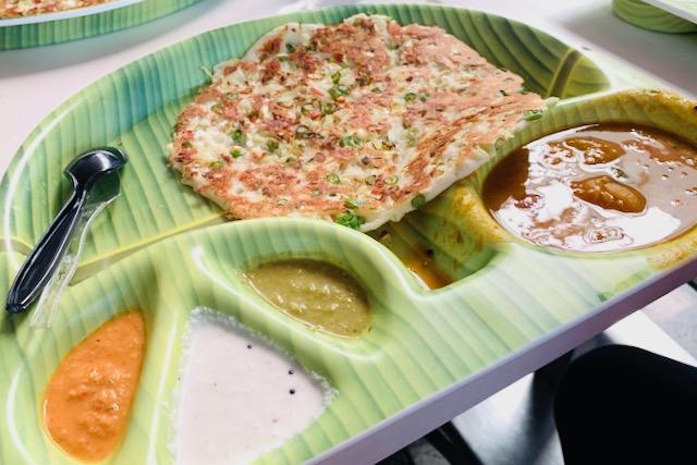 Uttapam-ateria Delhin kotimaan lentokentällä
