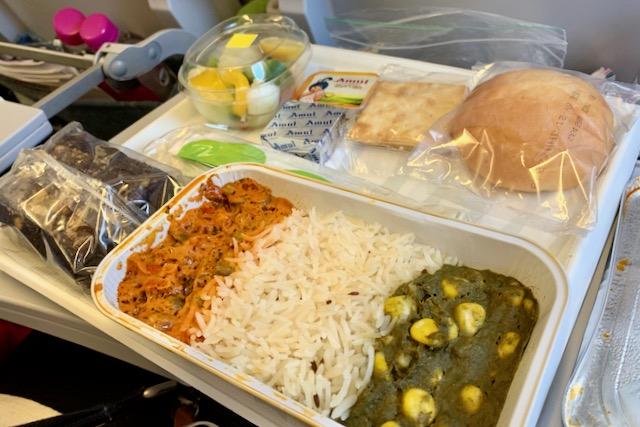 Intialainen ateria Finnairin lennolla