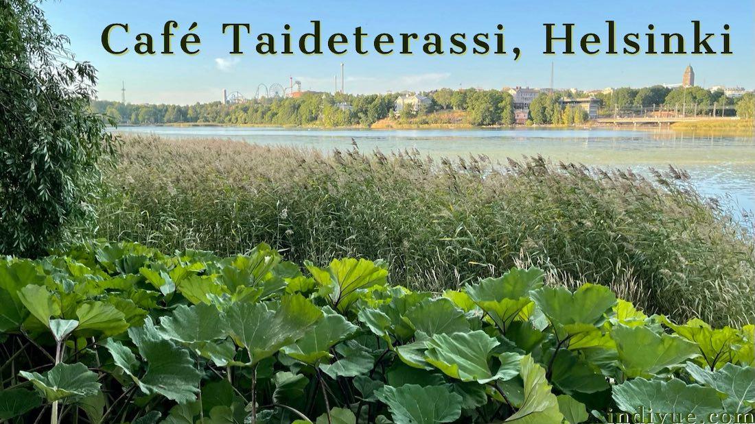 Cafe Taideterassi Töölönlahden rannalla